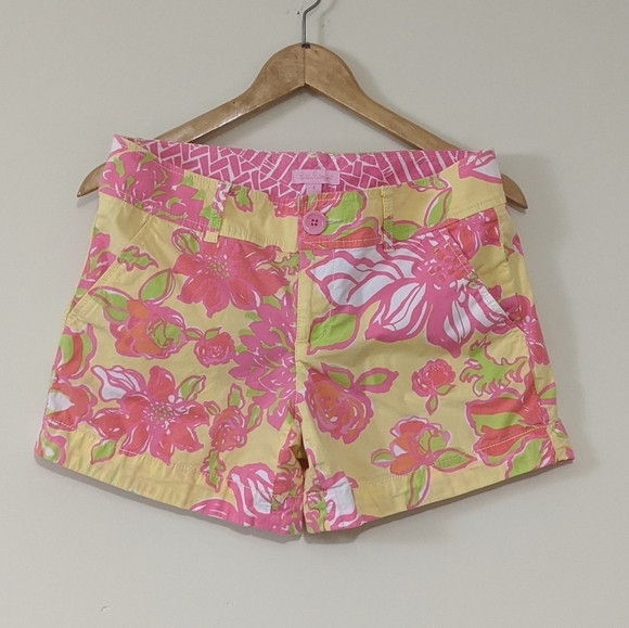 Lilly Pulitzer Pants - Lilly Pulitzer Pink Label Callahan Floral Shorts 4